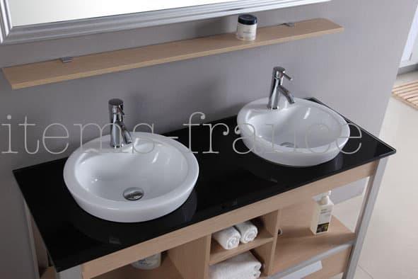 Meuble salle de bain motta meuble salle de bain - Salle de bain avec baignoire sur pied ...