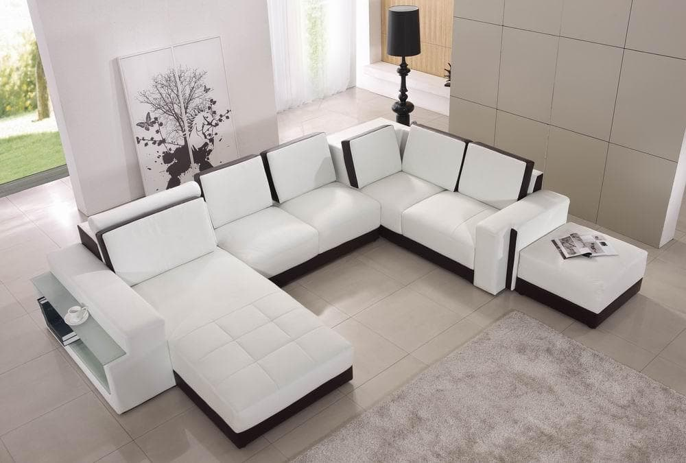 canape panoramique cuir salon elena canape cuir 5 places 205x355x288. Black Bedroom Furniture Sets. Home Design Ideas
