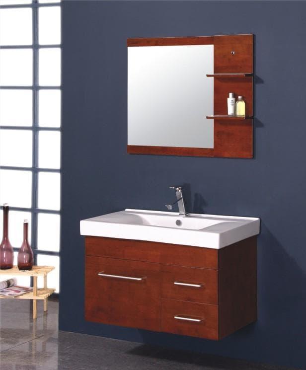 Meuble salle de bain contemporain luna 90x48x56 ebay - Meuble facilite de paiement ...