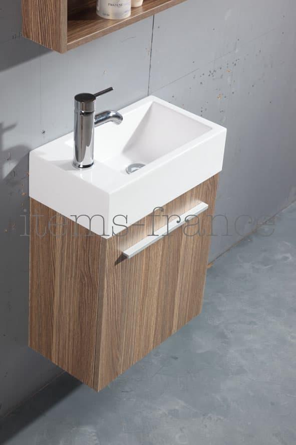 meuble salle de bain galia marron meuble lave main marron 45x25x60. Black Bedroom Furniture Sets. Home Design Ideas