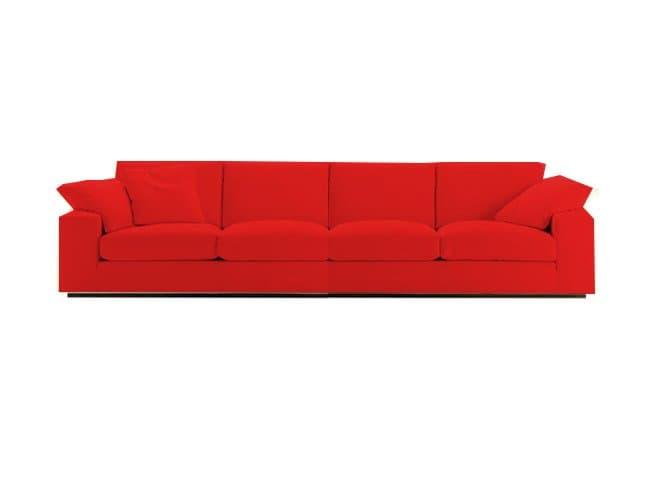 Canape Droit Tissus Salon Denver Rouge Canape 4 Places 265x98x80
