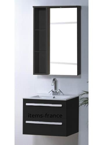 meuble salle de bain riviera1 noir meuble salle de. Black Bedroom Furniture Sets. Home Design Ideas