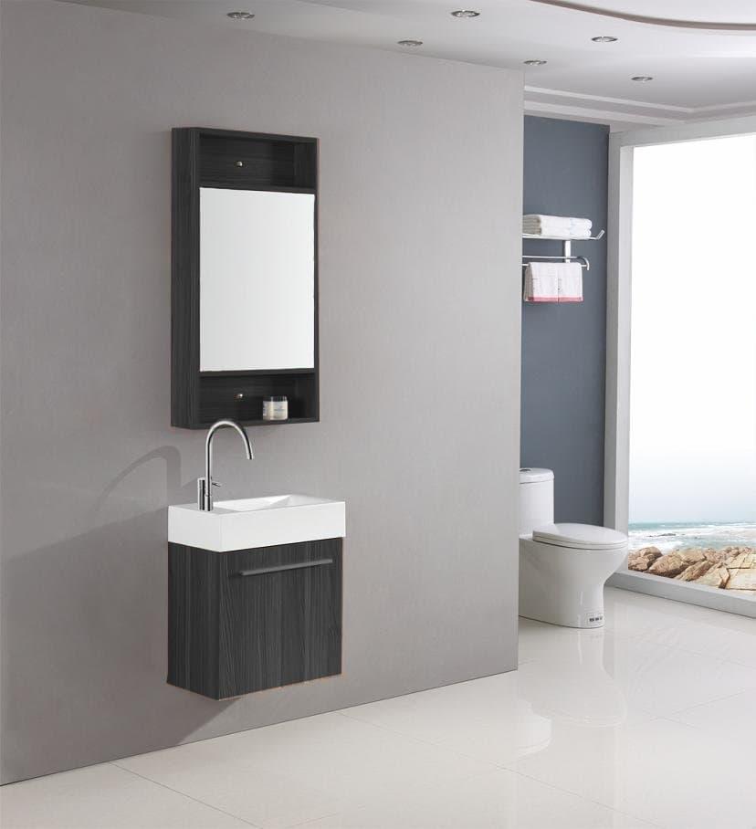 Galia noir meuble lave main noir 45x25x60 ebay - Meuble lave main noir ...