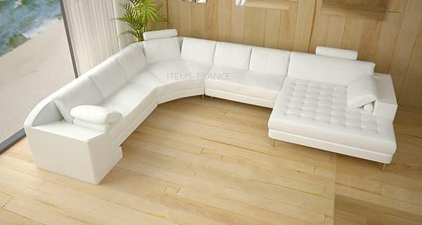 canap panoramique cuir venise canap cuir 6 7 places 295x386x166. Black Bedroom Furniture Sets. Home Design Ideas