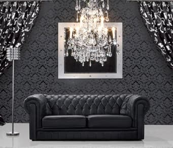 CHESTERFIELD NOI : CANAPE CHESTERFIELD NOIR 2 PLACES 160X90. 100% CUIR 2,2MM