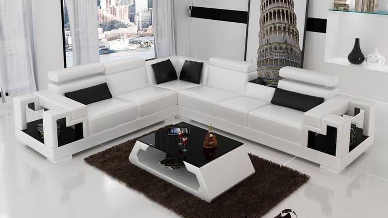 MANCHESTER - Canape d'angle en cuir 6 places 298x258x85 Donnez une... par LeGuide.com Publicité