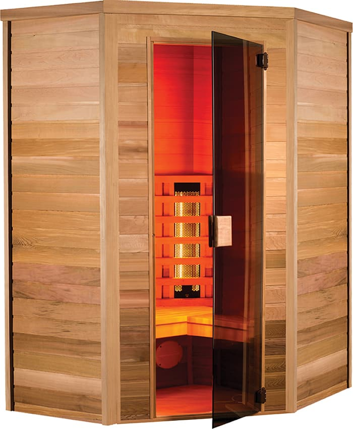 Multiwave 2 3 pl sauna infrarouge multiwave d 39 angle 2 3 places 13 - Achat sauna belgique ...