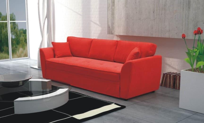 Canap convertible amber canap convertible en tissus rouge ou autre coul - Canape convertible couleur ...
