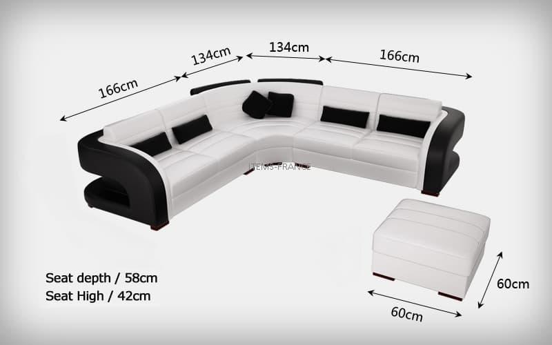 canap d 39 angle cuir arezzo canap d 39 angle en cuir 5 places 300x300 pouf. Black Bedroom Furniture Sets. Home Design Ideas