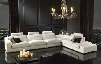 CANAPE CUIR 6 PLACES 372x267x95