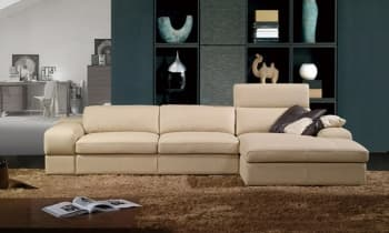 CANAPE CUIR 5 PLACES 305x172x91