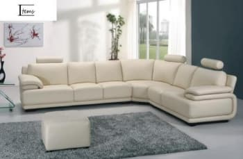 CANAPE CUIR 6 PLACES 320x263x84