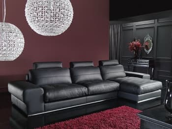CANAPE CUIR 3 PLACES 307x125