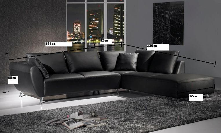 canap d 39 angle cuir newpapers canap contemporain d angle cuir 4 places 276x236x88. Black Bedroom Furniture Sets. Home Design Ideas