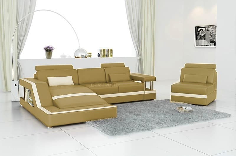 canap d 39 angle cuir rimini 3 beige canap cuir d 39 angle beige 3 places fauteuil. Black Bedroom Furniture Sets. Home Design Ideas