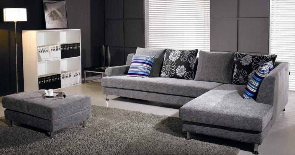 canap d 39 angle tissus kansas gris canap contemporain tissus 300x200. Black Bedroom Furniture Sets. Home Design Ideas