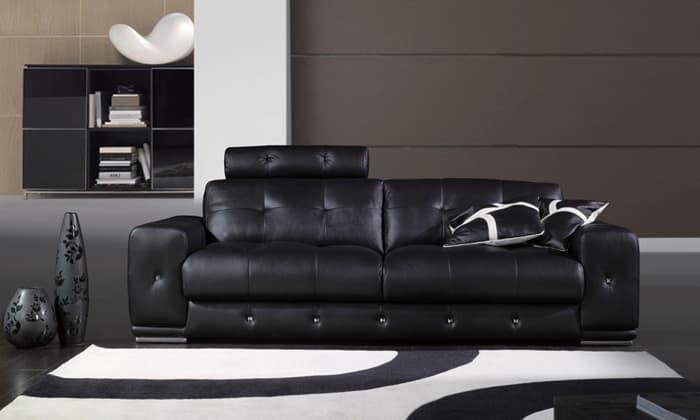 canap droit cuir osaka 2 places canap 2 places 220x102. Black Bedroom Furniture Sets. Home Design Ideas