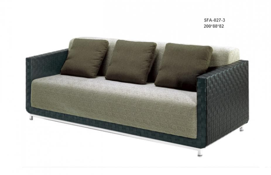 Canap canap droit cuir swin canap 3 places cuir 200x88x82 - Canape cuir made in france ...