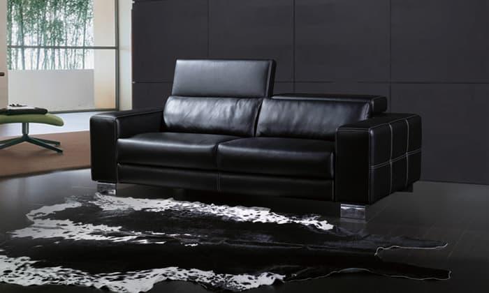 canap droit cuir trani 2 places canap 2 places 214x108. Black Bedroom Furniture Sets. Home Design Ideas