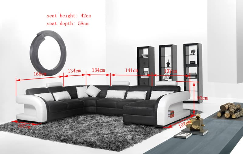 canap panoramique cuir arezzo xl grand canap cuir 7 places 382x300x197. Black Bedroom Furniture Sets. Home Design Ideas