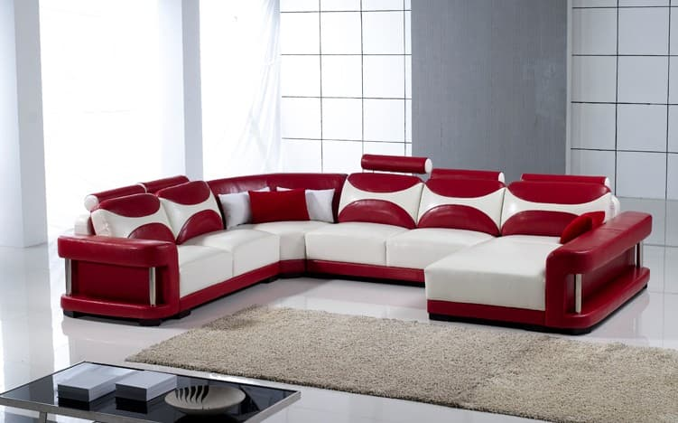 canap panoramique cuir coriandre canap cuir 6 places. Black Bedroom Furniture Sets. Home Design Ideas