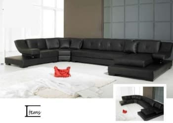 CANAPE CUIR 6/7 PLACES  375x231x180