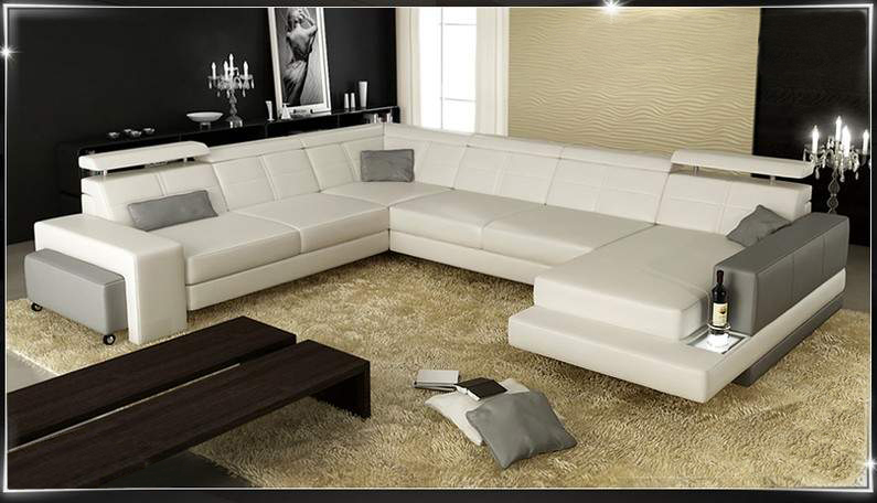 canap panoramique cuir florence canap cuir 6 places 292x349x185. Black Bedroom Furniture Sets. Home Design Ideas