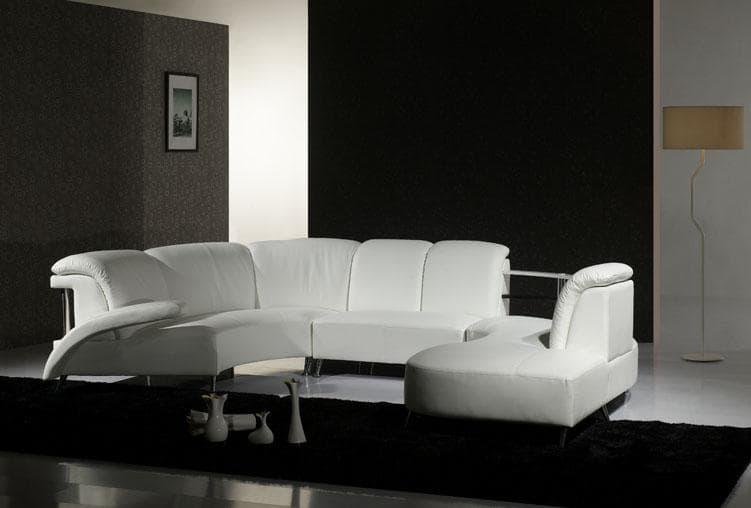 Canap panoramique cuir jonao canap cuir 6 places 270x110x260x90 - Produit entretien canape cuir ...