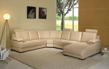 CANAPE CUIR 6 PLACES 260X320X168