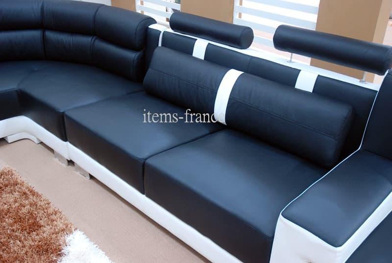 canap panoramique cuir livida canap cuir 7 places 375x337x180. Black Bedroom Furniture Sets. Home Design Ideas