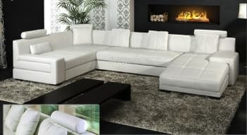 CANAPE CUIR 5/6 PLACES 337x200x165
