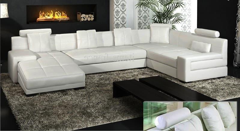 canap panoramique cuir monna canap cuir 5 6 places 337x200x165. Black Bedroom Furniture Sets. Home Design Ideas