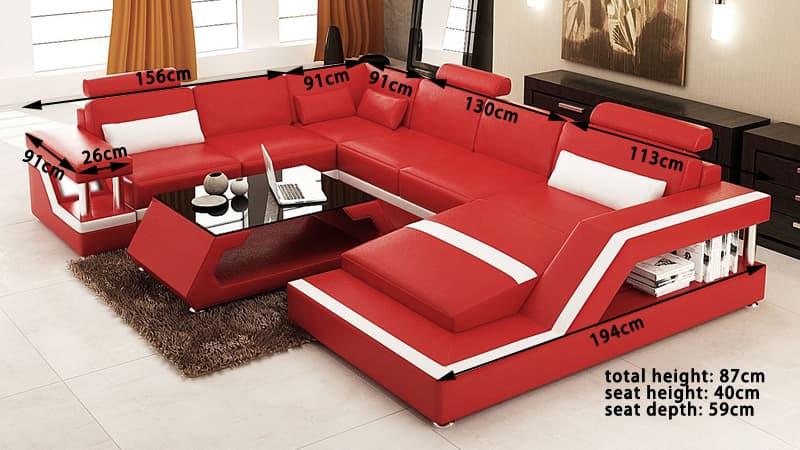 canap panoramique cuir rimini 2 canap cuir 5 6 places 247x334x194. Black Bedroom Furniture Sets. Home Design Ideas