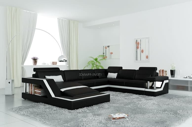 canap panoramique cuir rimini 2 canap lit cuir 5 6 places 259x341x192. Black Bedroom Furniture Sets. Home Design Ideas