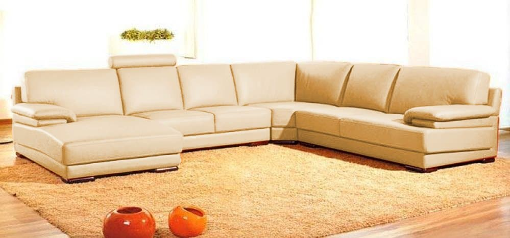 Canap panoramique cuir tilao canap cuir 6 places 338x270x161 - Canape cuir made in france ...