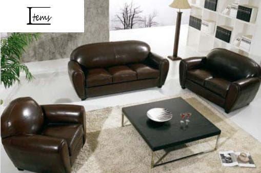 ensemble canap cuir club 3 2 1 canap cuir 6 places 215x90 160x90 110x90. Black Bedroom Furniture Sets. Home Design Ideas