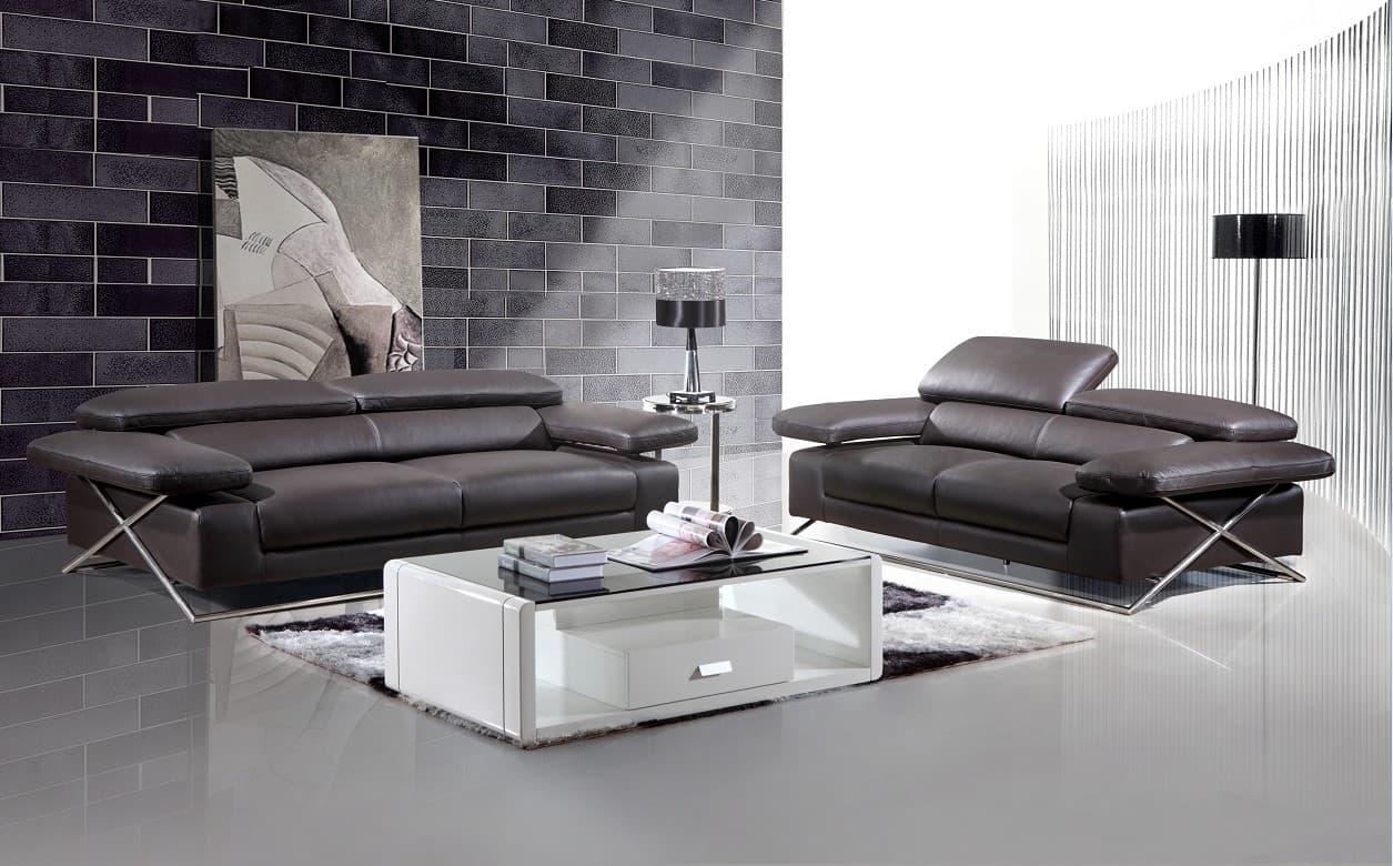 ensemble canap cuir thema 2 places canap cuir 2 places 202x112. Black Bedroom Furniture Sets. Home Design Ideas
