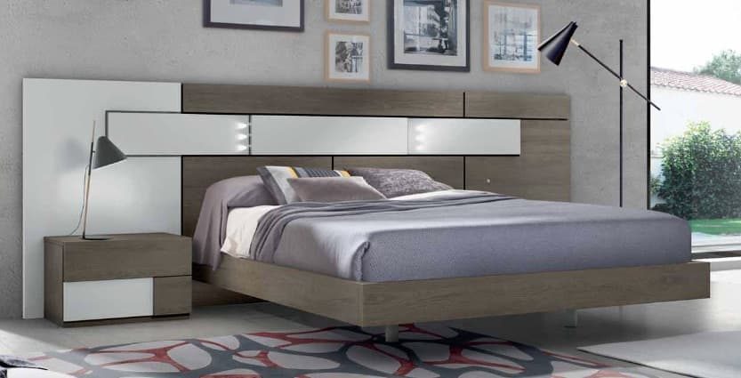 Lit rectangle ambiance bois chambre adulte douceur lit adulte design avec chevets for Ambiance chambre adulte