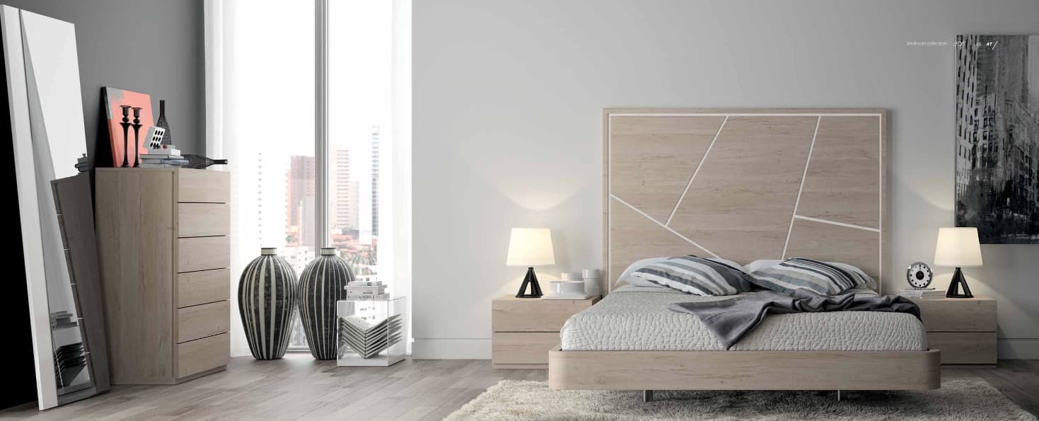 Lit rectangle ambiance bois chambre adulte linea lit adulte design avec chevets for Ambiance chambre adulte