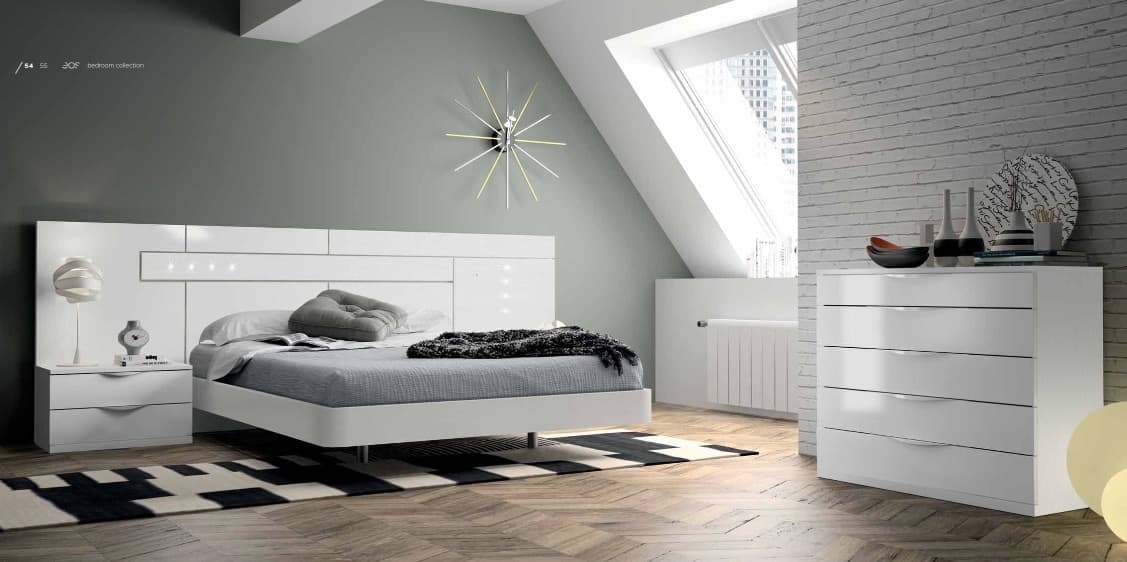 Lit rectangle ambiance bois chambre adulte zen lit adulte design avec chevets personnalisable - Ambiance chambre zen ...