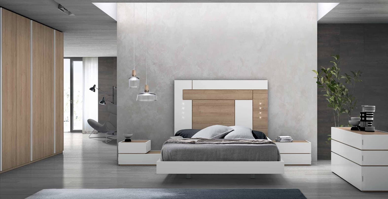 lit rectangle ambiance bois chambre adulte zen lit adulte design avec chevets personnalisable. Black Bedroom Furniture Sets. Home Design Ideas