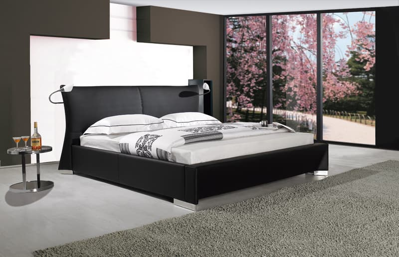 Lit rectangle ambiance cuir chambre adulte lucky lit avec lumi res 250x192x100 for Ambiance chambre adulte