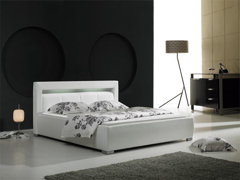 lit rectangle chambre adulte barry lit avec lumi re. Black Bedroom Furniture Sets. Home Design Ideas