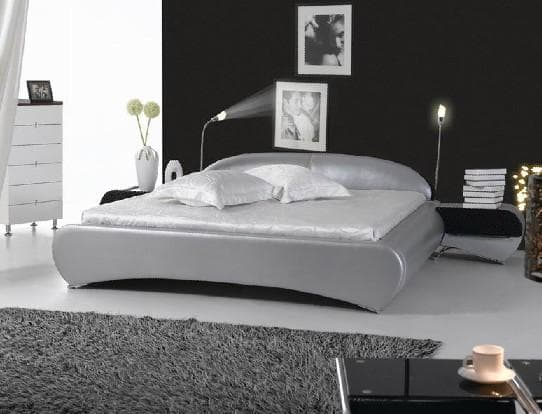 Lit rectangle chambre adulte silver lit matelas for Chambre lit adulte