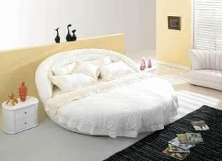 lit rond chambre adulte leona lit matelas table de chevet. Black Bedroom Furniture Sets. Home Design Ideas