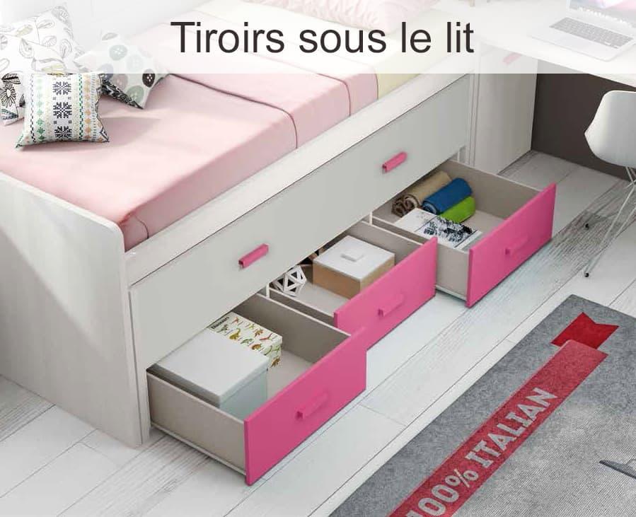 Chambre enfant lorys lit enfant gigogne for Chambre adulte complete venise ii sans tiroir lit