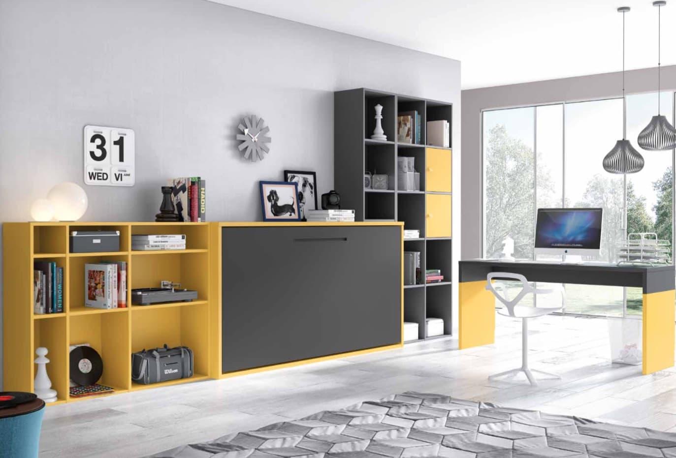 chambre enfant gain de place meuble gain de place chambre 2017 et lit studio gain de 40. Black Bedroom Furniture Sets. Home Design Ideas