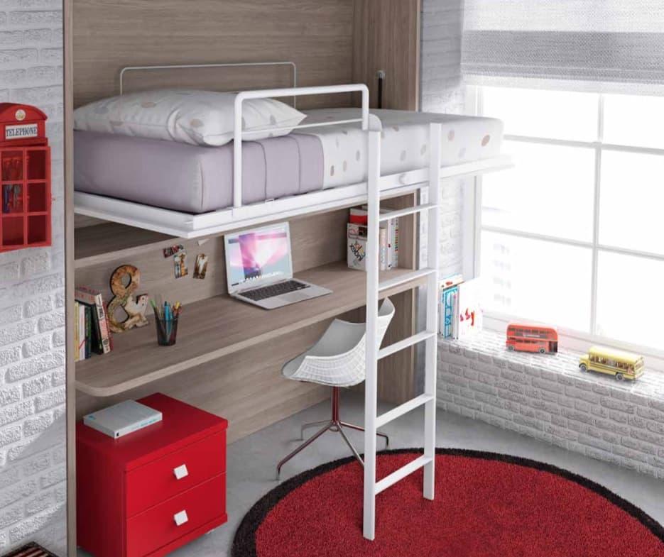 Chambre enfant marius lit mezzanine escamotable - Lit enfant escamotable ...