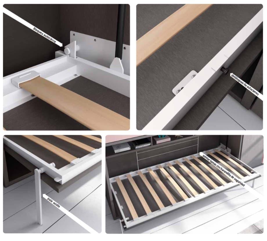 chambre enfant nathan lit mezzanine escamotable avec 1 lit tiroir. Black Bedroom Furniture Sets. Home Design Ideas