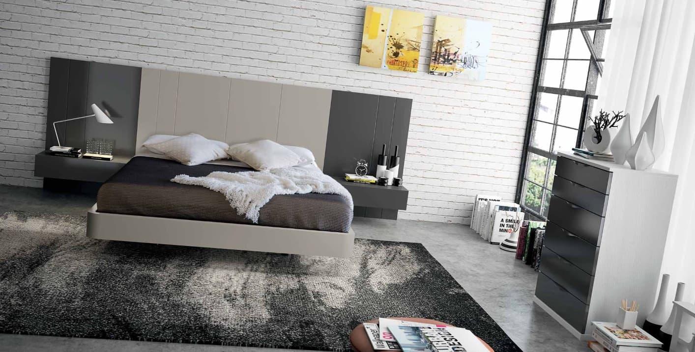 Chambre lit rectangle ambiance bois purete lit for Ambiance chambre adulte